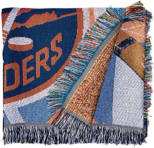 The Northwest Company Officially Licensed NHL New York Islanders Homefield Ice Advantage Woven Tapestry Throw Blanket, 48
