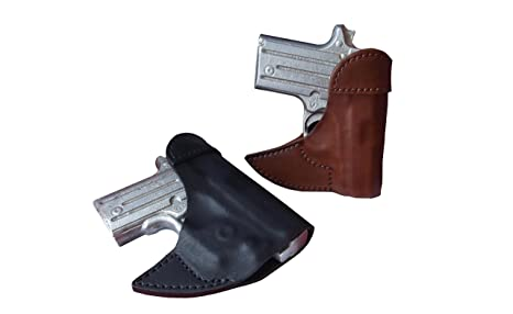 J&J Custom Fit KIMBER MICRO 9 W/ CRIMSON TRACE LASERGUARD Formed Front  Pocket Style Premium Leather Holster