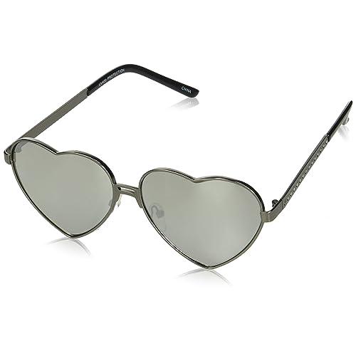 2812a6061c1b0 Womens Cute Fashion Wire Metal Inset Lens Love Lolita Heart Shaped  Sunglasses