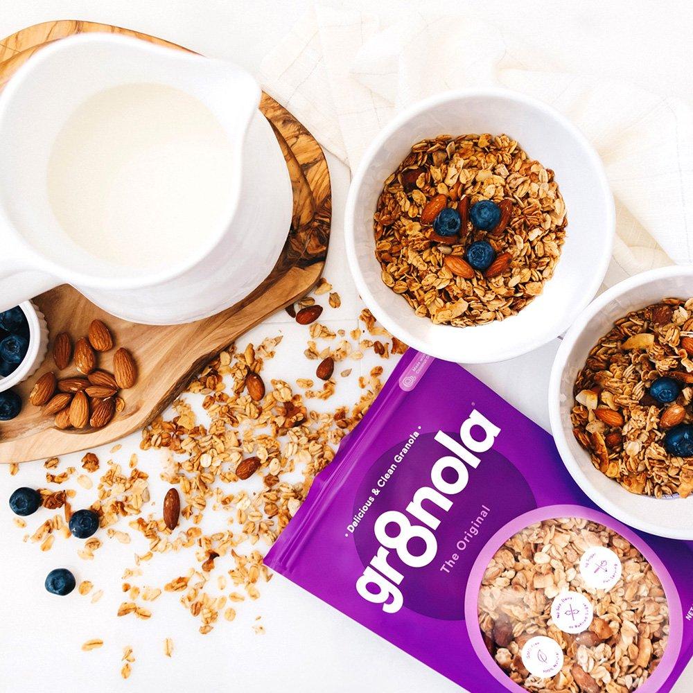 gr8nola Granola Cereal Healthy Breakfast or Snacks - Almond