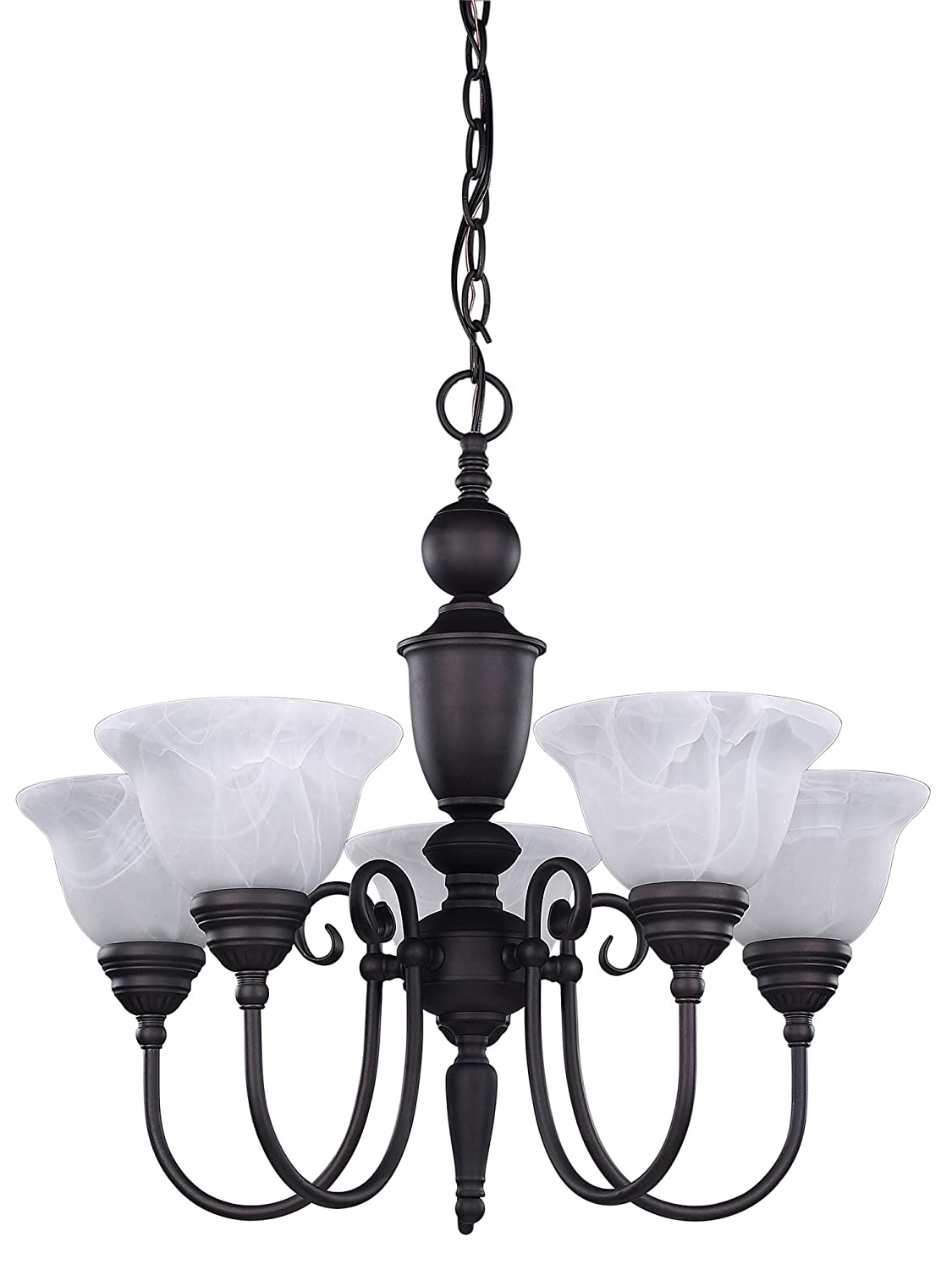 Canarm ICH20A03ORB Julianna 3-Light Chandelier, 20.5 x 20.5 x 19.75 , Oil Rubbed Bronze