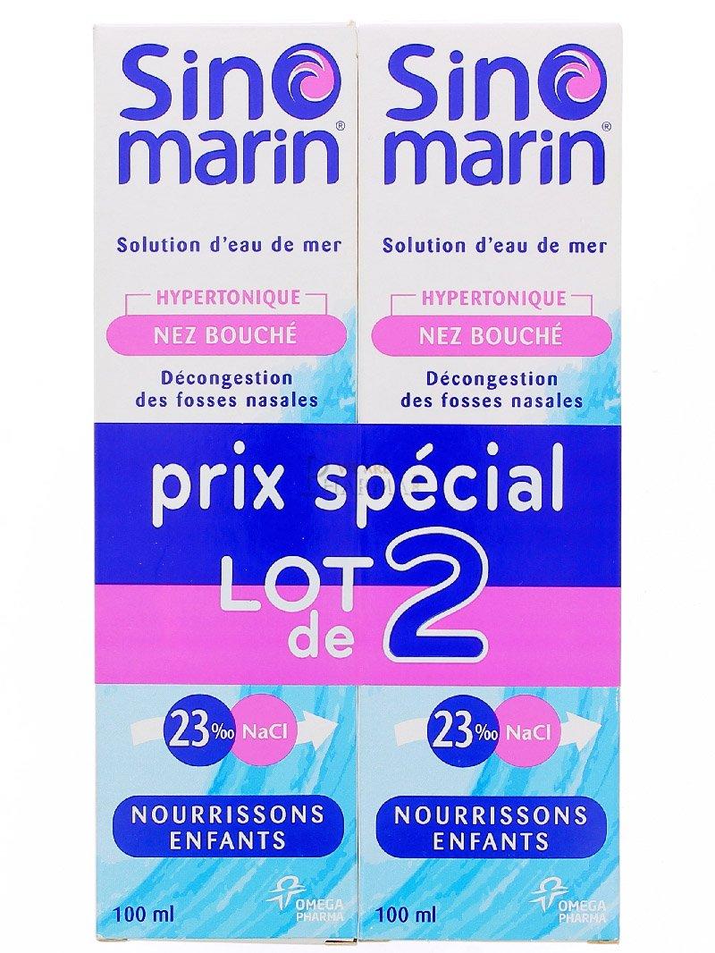 Amazon.com: Sinomarin Solution dEau de Mer Nourrissons/Enfants Lot de 2 x 100 ml: Health & Personal Care