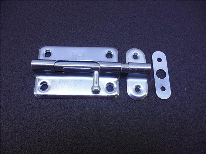 Bolzenriegel Riegel T/ürriegel Schubriegel Sicherheitsriegel mit befestigter Schlaufe 60 mm Antik
