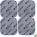 Compex Electrodos. Pack de 4x 50X50mm electrodos de alto rendimiento y larga duración. Compatibilidad con Compex garantizada al 100%
