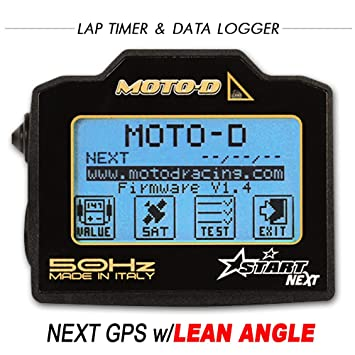 MOTO-D NEXT - Temporizador GPS para motocicleta con ángulo de inclinación integrado (50