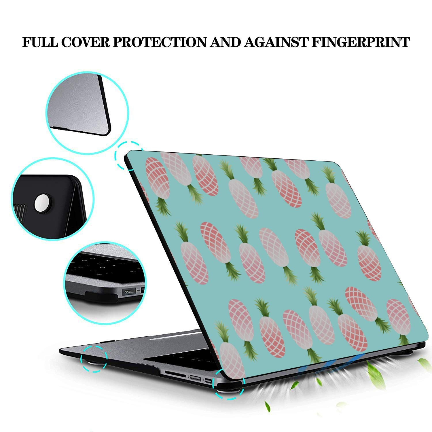 Mac Book Pro Case Summer Sweet Fresh Fruit Pineapple Plastic Hard Shell Compatible Mac Air 11 Pro 13 15 Laptop Case 13 Inch Protection for MacBook 2016-2019 Version