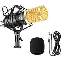 Neewer Kit de Micrófono Condensador Profesional para Radiodifusión y Grabación Estudio- (1)NW-800 Micrófono Condensador…
