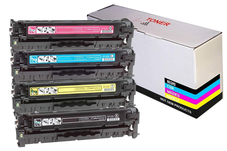 CVT- Pack 4 Toner Compatibles CF540A / CF541A / CF542A / CF543A ...