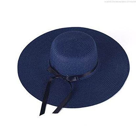 c190209c493 Image Unavailable. Image not available for. Color  Hi-Qs Sun Straw Beach  Hats for Women Wide Brim Packable Floppy ...
