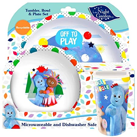 In The Night Garden 3-Piece Dinner Set | Tumbler Bowl and Cup |  sc 1 st  Amazon UK : in the night garden tableware - pezcame.com