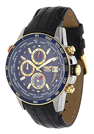 Aviator AVW8974G261 - Reloj cronógrafo para Hombre, Color Negro: Amazon.es: Relojes