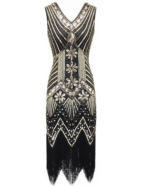Amazon.com: EAST-BIRD Vestido de mujer de los años 20, con ...