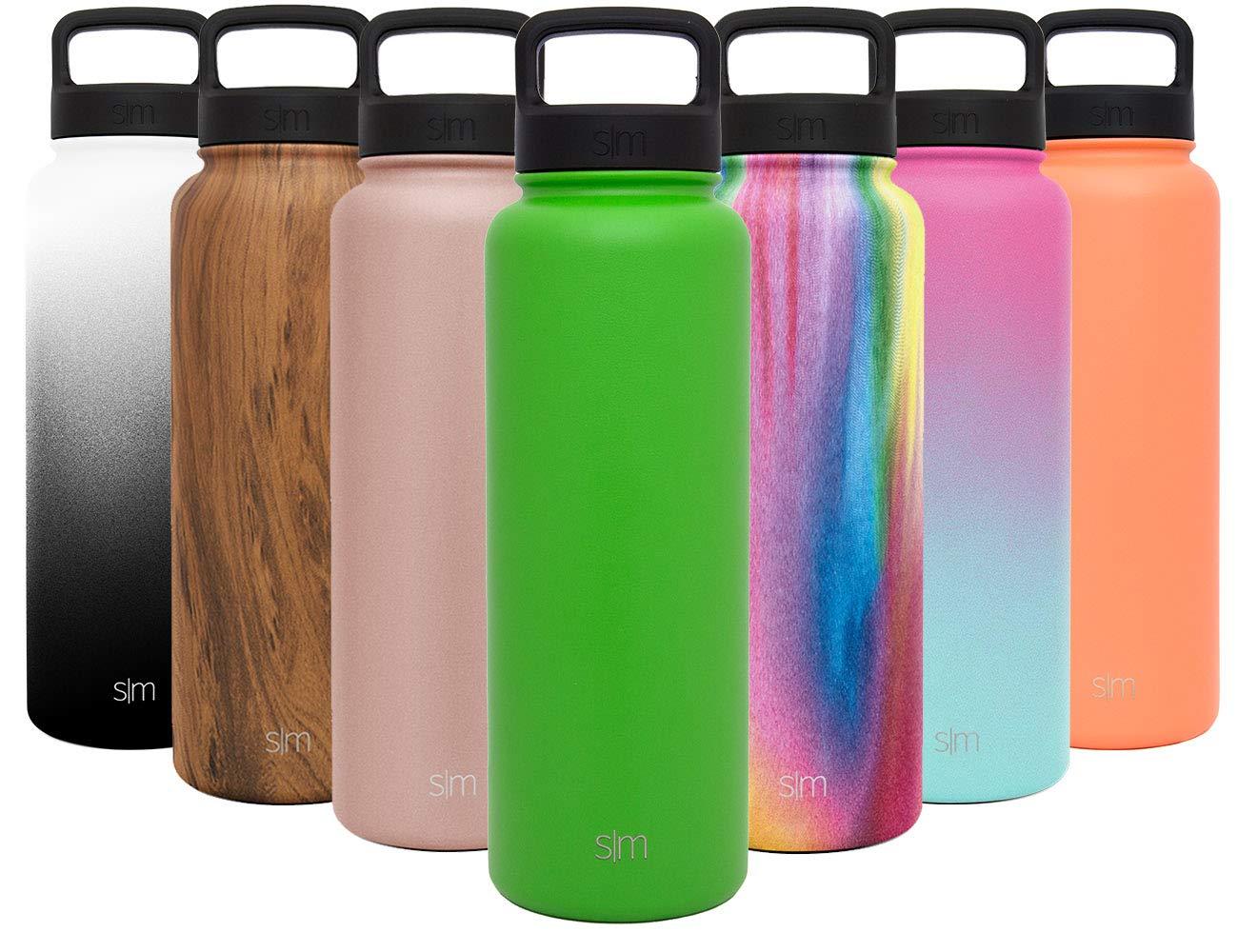 49cf0322ee Simple Modern 40 oz Summit Water Bottle - Stainless Steel Liter Flask +2  Lids -
