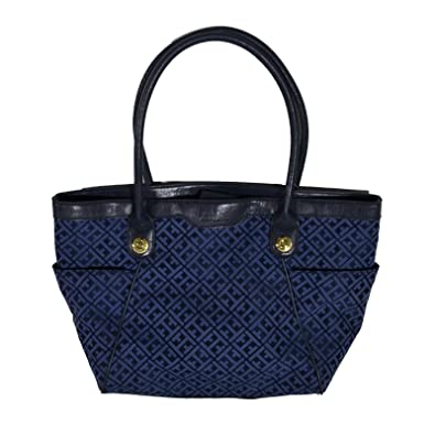 8ee40cd2d76c Amazon.com: Tommy Hilfiger EW Large Tote Purse Bag Handbag Navy: Shoes