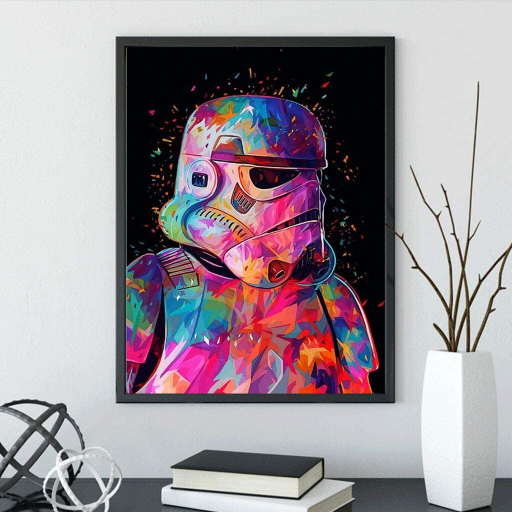Painting Cross Stitch Full Diamond Crystal Rhinestone Embroidery Pictures According to The Numbered kit handicrafts 12x16 inches DIY 5D Diamond Painting Star Wars