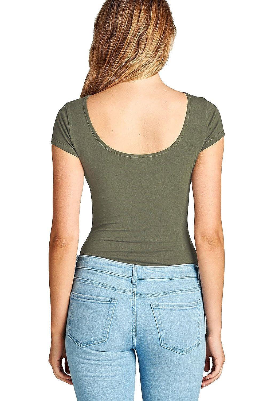 Hollywood Star Fashion Short-Sleeve Scoop Neck Snap Crotch Leotard