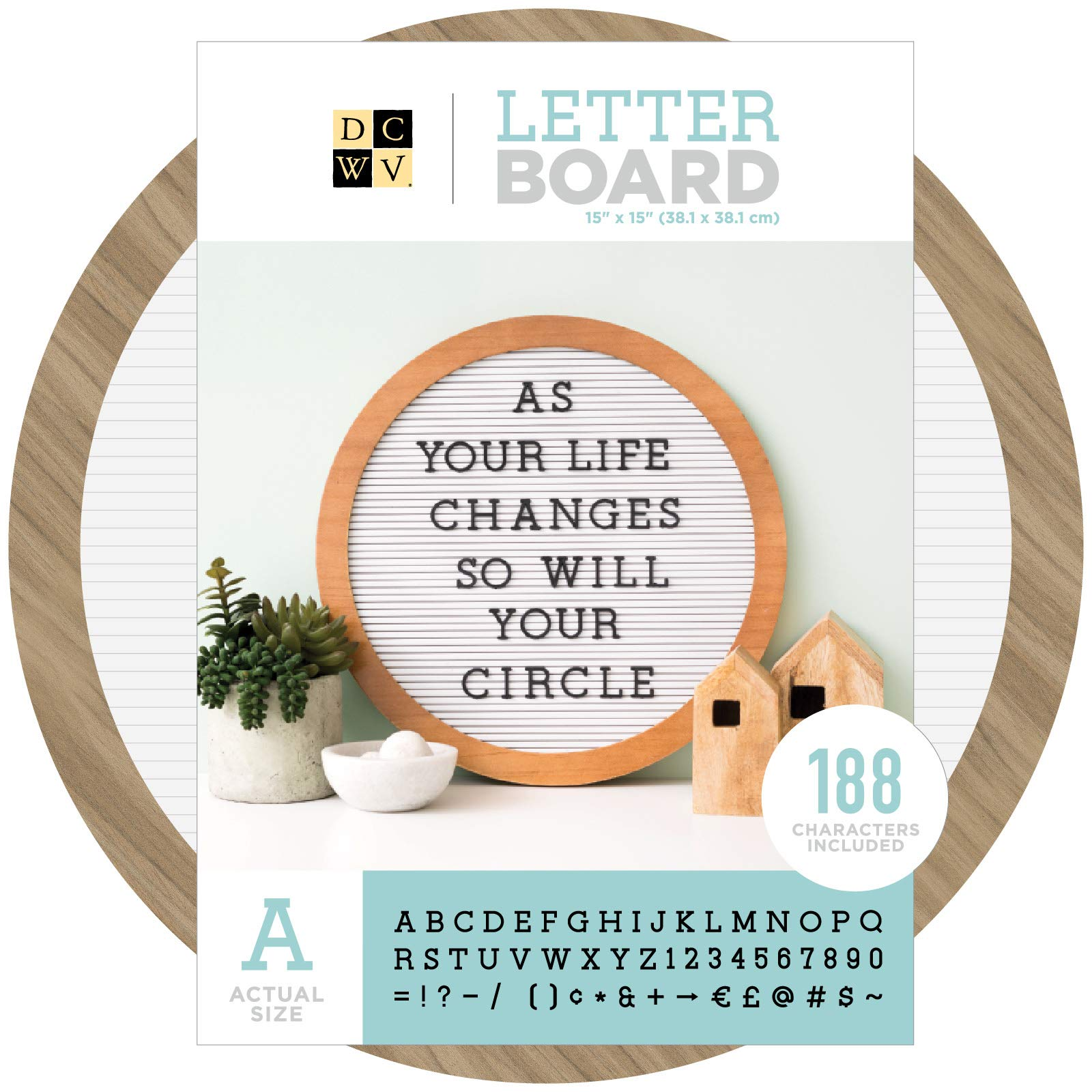 DCWV 614834 Letterboard Circle White