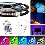 Kreema 3m alimentato a batteria RGB LED luci di striscia flessibile illuminazione con scatola alimentazione e 24 tasti telecomando RF
