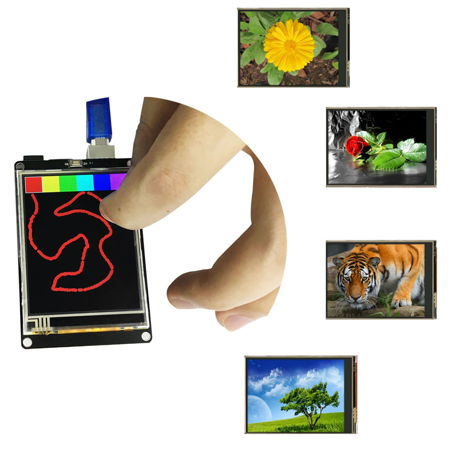 KEYESTUDIO 2.8 inch TFT LCD Display Shield Touch Panel ILI9325 for Arduino UNO R3