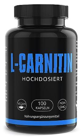 GYM-NUTRITION® — PREMIUM L-CARNITIN 3000 – Ultra hochdosiert, vegan, ohne Zusätze – Beliebt bei Figur bewussten Menschen – 10