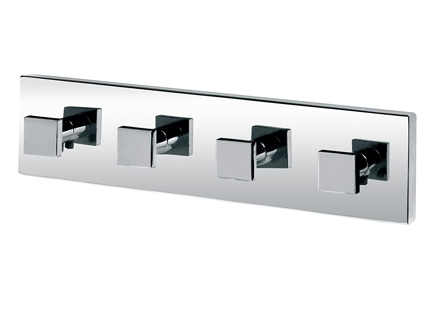 Bisk Arktic 01464 Multi Robe Hook in Chrome, 20 x 3 x 5 cm