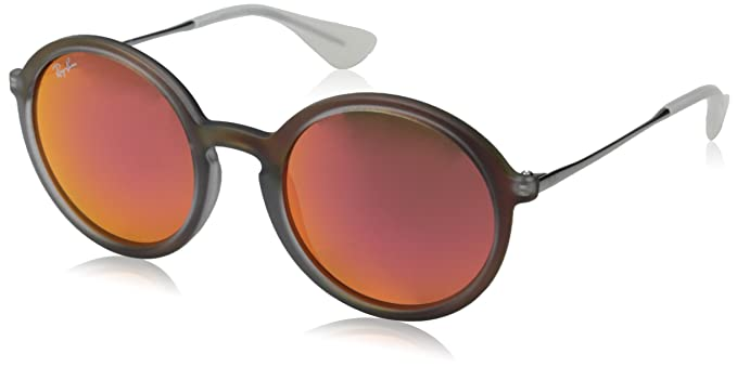 97e14198e7760 ... where can i buy ray ban injected man sunglasses shot red rubber frame  red mirror lenses