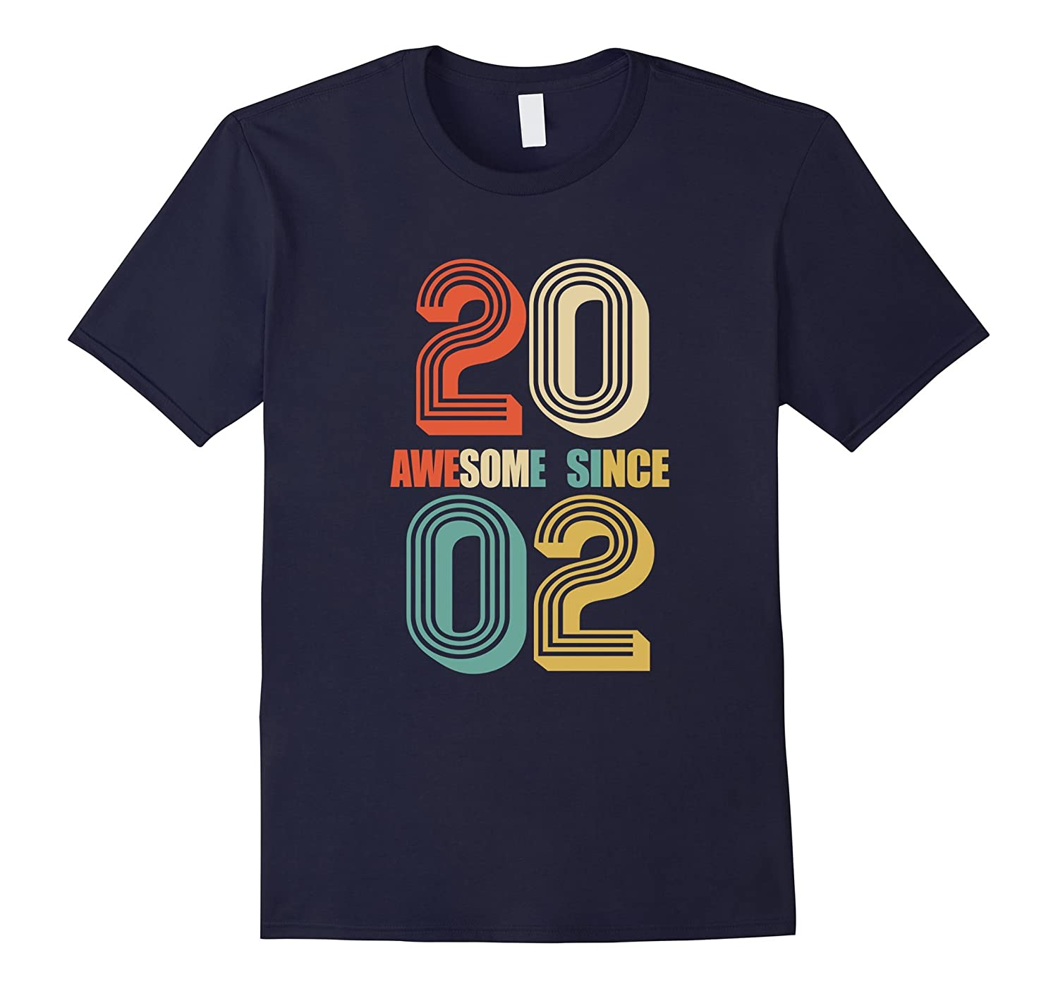 Awesome Since 2002 T-Shirt 15 yrs old Bday 15th Birthday Tee-Art