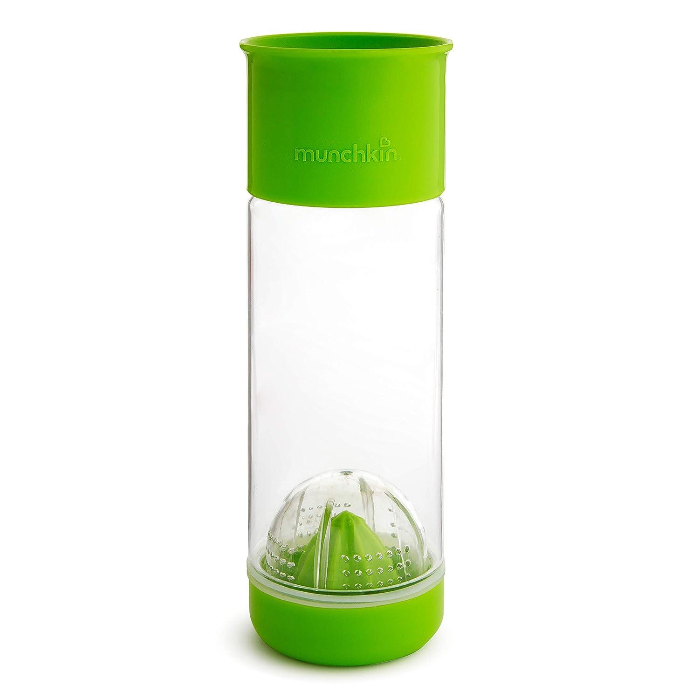 Munchkin Miracle 360 Fruit Infuser Water Bottle, 20 Ounce, Green