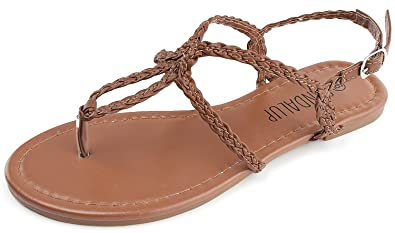 Review SANDALUP Women's Braided Strap