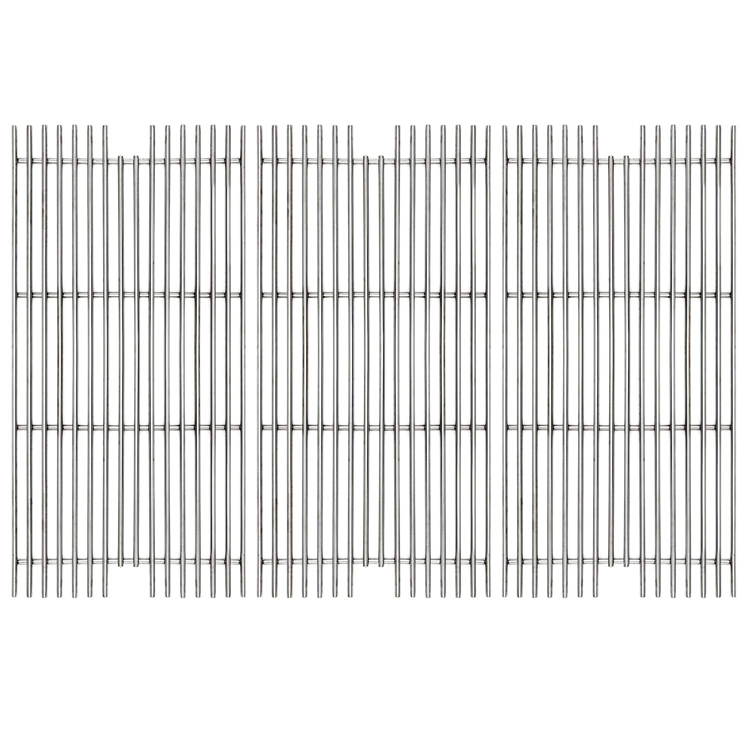 Hongso 304 Stainless Steel Gas Grill Grid Grates Replacement Part for Viking VGBQ 30 in T Series, VGBQ 41 in T Series, VGBQ 53 in T Series Gas Grill, SCD911 3 Pack by Hongso