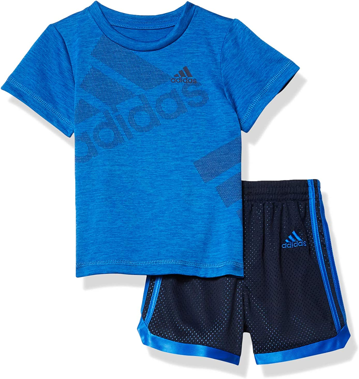 adidas Baby Boys Lil Sport Active Tee /& Shorts Cothing Set