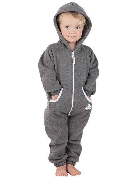 fc6158346 Amazon.com  Joggies - Charcoal Gray Infant Footless Hoodie Onesie ...