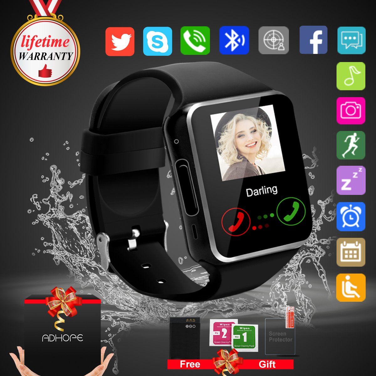 Bluetooth Smart Watch Phone Touchscreen Armbanduhr: Amazon.de ...