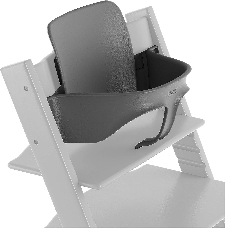 TRIPP TRAPP® Baby Set para niños a partir de los 6 meses │ Accesorio de bebé para la silla evolutiva de STOKKE® │ Respaldo ergonómico │ Color: Gris Tormenta