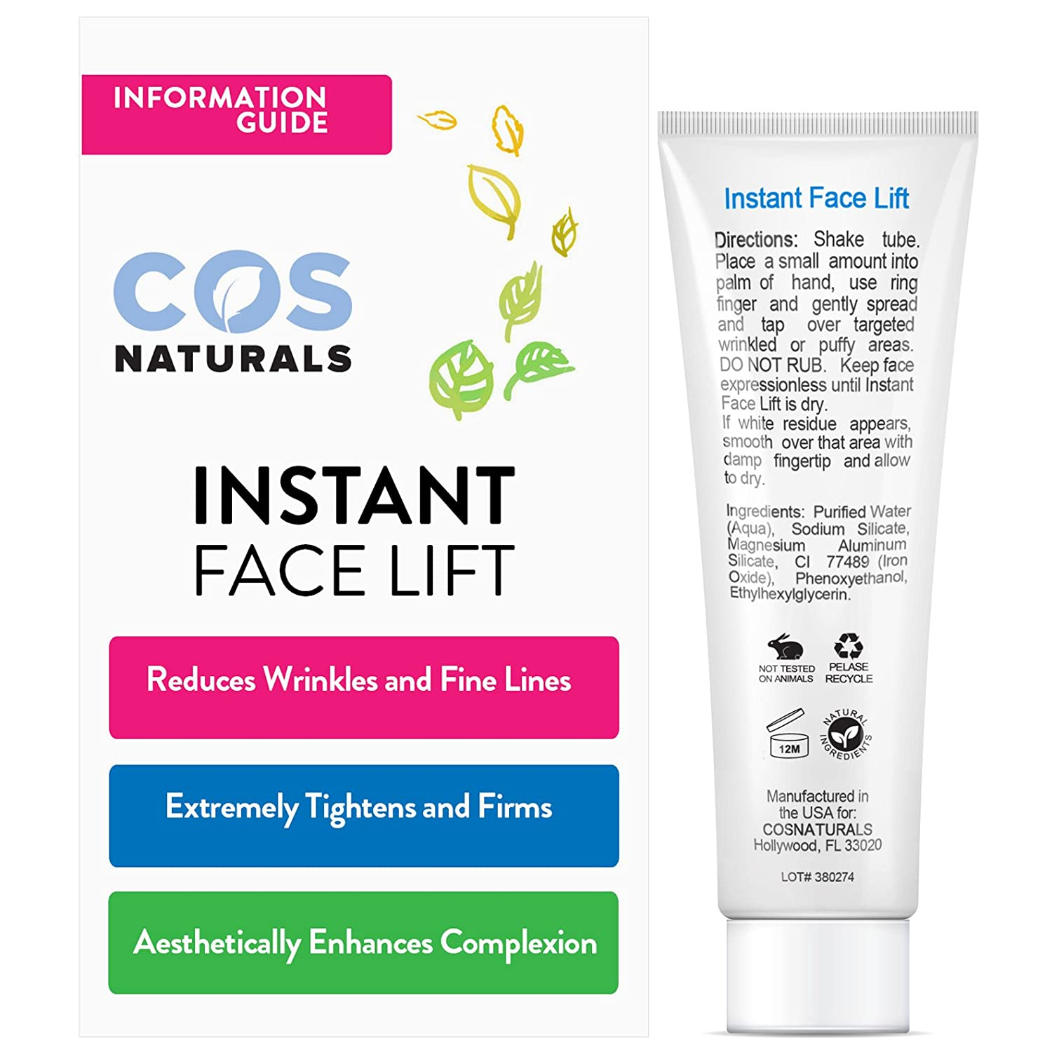 Amazon COS Naturals INSTANT FACE LIFT Tighten Firm And Nourish