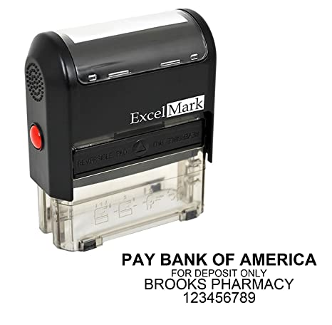 Amazon com : Bank Deposit Stamp with 4 Lines (42A2359) : Business