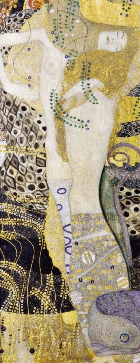 オーストリア・ギャラリー 水蛇 Water Snakes I (はがせるシール式) (576mm×1492mm) I 壁紙ポスター グスタフ・クリムト K-KLT-009S1 インテリア 耐候性塗料 1904-1907年 絵画風 建築用壁紙+ キャラクロ
