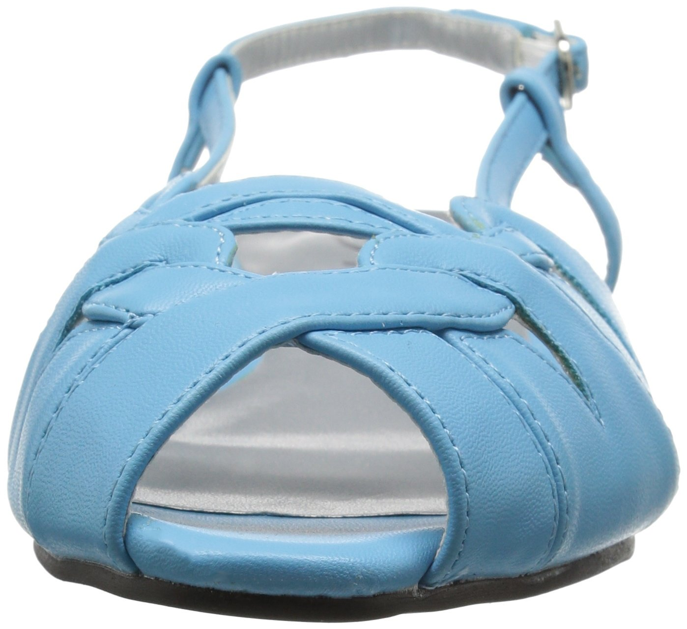 Annie Shoes Women's Kim Wide Calf Wedge Sandal B01GKEC9C6 6.5 W US|Navy