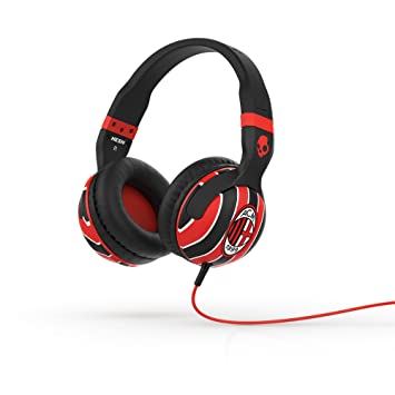 Skullcandy Hesh 2.0 Over-Ear Wired Headphones with In-Line Microphone - AC  Milan ee74a64415