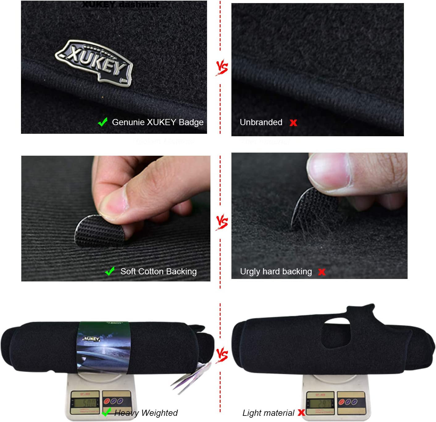 XUKEY Dash Cover Mat Dashmat Dashboard Cover for Nissan Altima teana 2013-2018 L33