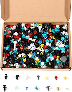 ROADFAR 1000Pcs Car Fasteners Push Type Fender Rivet Clips Automotive Nylon Clips