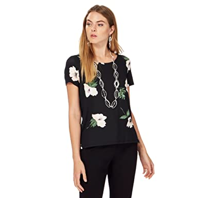 finest selection new images of run shoes Debenhams The Collection Womens Black Daisy Print Top 20: The ...