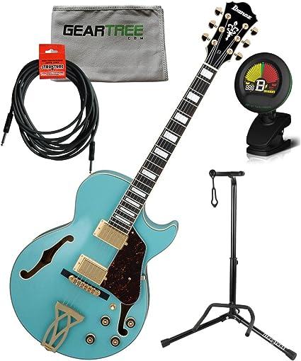 Ibanez ag75gmtb AG Artcore guitarra eléctrica – menta azul w/cable ...