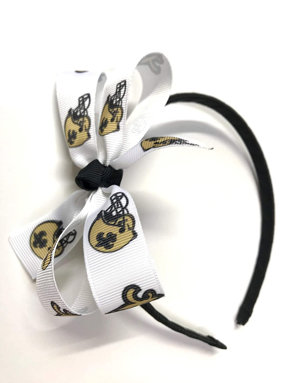 Amazon.com  Girls New Orleans Saints Headband NFL New Orlean Saints  Football Hair Bow  Handmade 53a20d57269