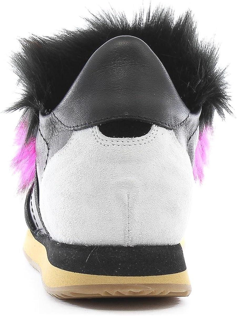 My Heels Sneakers 2603W9 Shoes Nero Rosa Nero Rosa