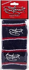 Original 2stoned Schweißbänder im Doppelpack 8cm breit mit Stick in 6 Farbvarianten