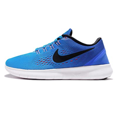 huge selection of 2420d c57da NIKE Womens Free Run Flexible Lightweight Running Shoes Blue 5 Medium (B,M)