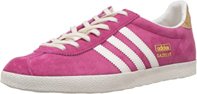 Adidas Originals Gazelle Originals, Chaussons Sneaker Femme, Rose (bold  Pink/off White/gold Met.), 38