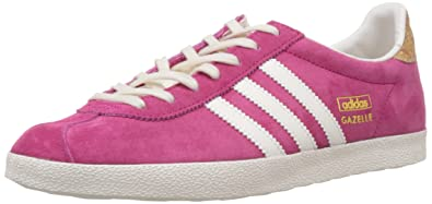 info for 37d39 6098a adidas Originals Damen Gazelle Originals Sneakers Bold PinkOff WhiteGold  Met.)