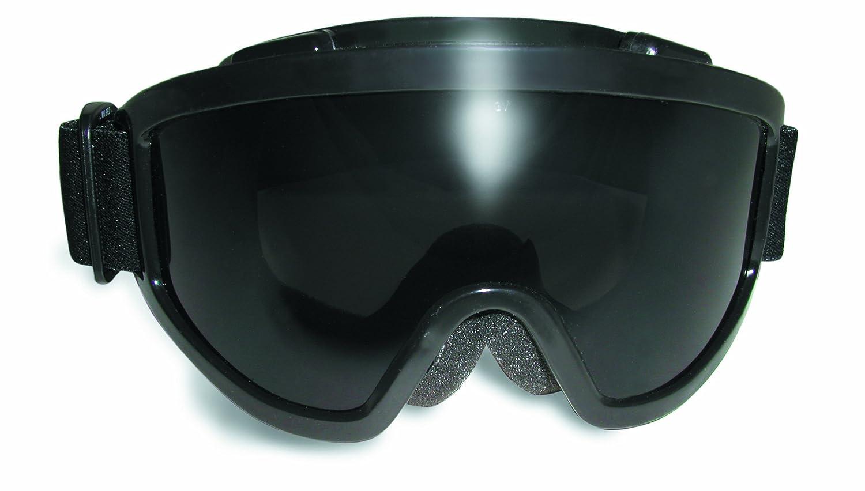 Black Frame Smoke Anti-Fog Lens Windshield Safety Goggle ANSI Z87.1